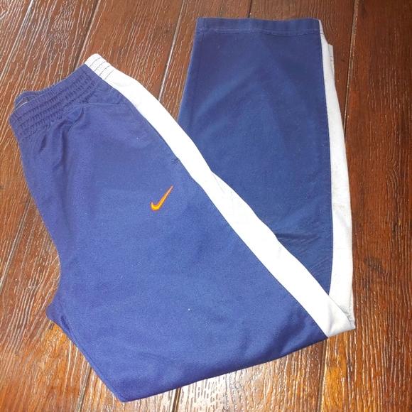 Boys medium Nike Track Pants navy orange